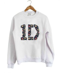 one direction floral sweatshirt
