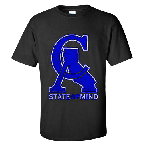 CA state of mind t-shirt