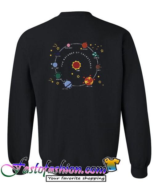 Planets Solar System and Stars Sweatshirt