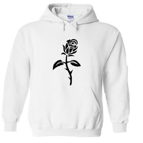 black rose hoodie