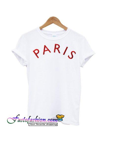 paris font t-shirt