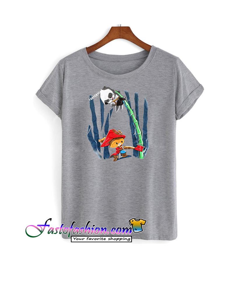 Panda 39 S Bamboo With An Axe T Shirt