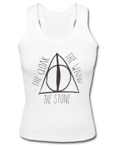 Deathly hallows and Harry potter hogwarts The Cloak The Wand The Stone Tank Top SU