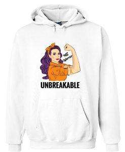 Multiple Sclerosis Awareness Ms Warrior Unbreakable Hoodie SU