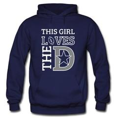 This Girl Loves The D Hoodie SU