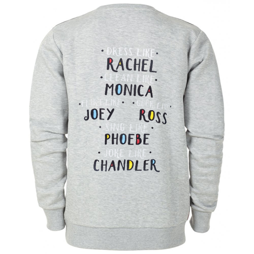 Friends TV Show Like Sweatshirt Back SU