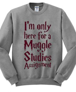 I'm Only Here For A Muggle Studies Assignment Sweatshirt SU