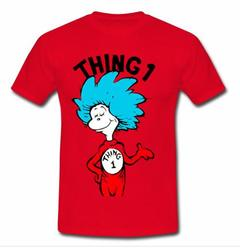 thing one and thing two t shirt SU