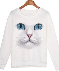 3D Beads Cat Sweatshirts
