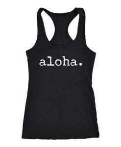 Aloha Black Tank Top