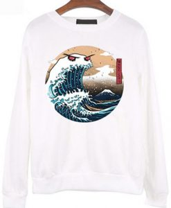 Fashion Ukiyo e Style Sweatshirt
