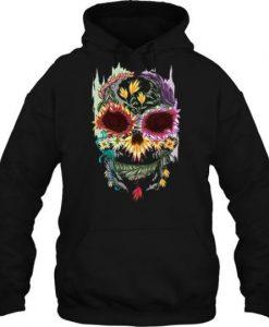 Floral Skull Hoodie