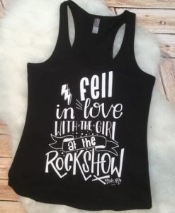 Girl at the Rock Show Racerback Tank top