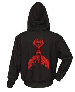 Hellboy Back Hoodie