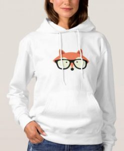Hipster Red Fox Hoodie'