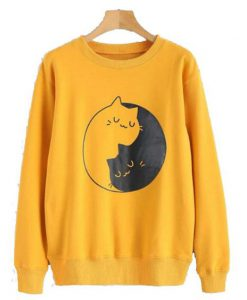 Kitten Print Graphic Sweatshirt