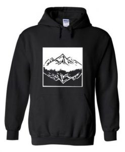 Mountain upside down hoodie