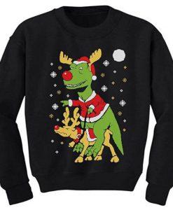 Santa T-Rex Sweatshirt