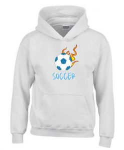 Soccer Ball Flaming Hoodie