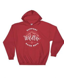Support Wildlife Raise Boys Hoodie