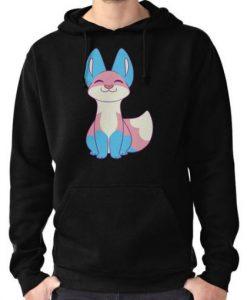 Trans Pride Fox Hoodie