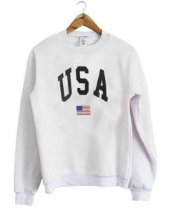 USA Flag Graphic Sweatshirt