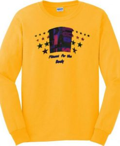 Yellow Fitness For The Body Sweatshirt