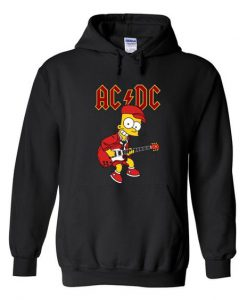ACDC simpson playing guitar hoodie ZNF08