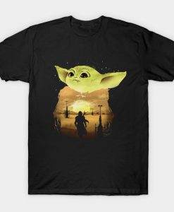 Baby Yoda Sunset T shirt ZNF08