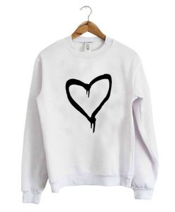 Black Heart Sweatshirt ZNF08