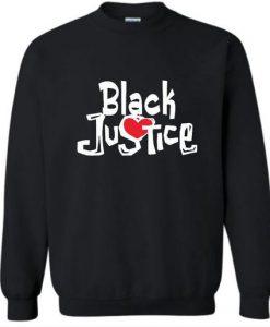 Black Justice Sweatshirt ZNF08