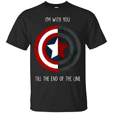 Captain America I'm With You t-shirt ZNF08