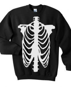 Chest Skeleton Sweatshirt ZNF08