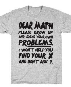 Dear Math T-Shirt ZNF08