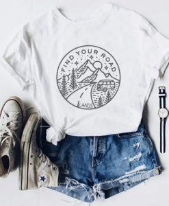 Find Your Road Tee Shirt ZNF08