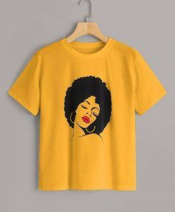 Hair Style Yellow tshirt ZNF08