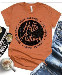 Hello Autumn T-shirt ZNF08