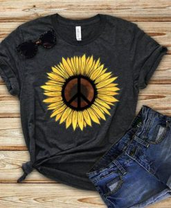 Hippie Sunflower Tshirt ZNF08