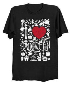 I love Halloween T Shirt ZNF08