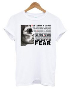 Ian Brown FEAR t shirt ZNF08