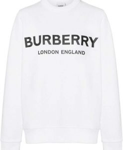 Burberry logo White Sweatshirt ZNF08