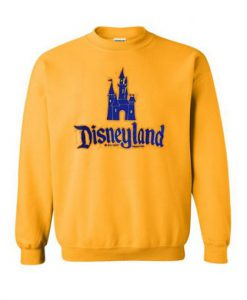 Castle Disneyland Yellow Sweatshir ZNF08t