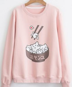 Cat In Bowl Sweatshirt ZNF08