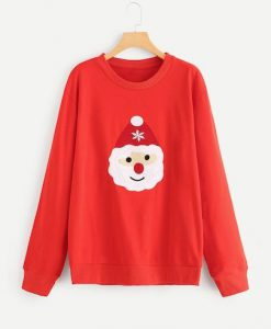 Christmas Embroidered Sweatshirt ZNF08