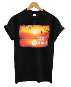 Corona Extra Men's Navy Blue Sunset T shirt ZNF08