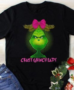 Crazy Grinch lady shirt ZNF08