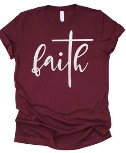 Faith with Cross T-Shirt ZNF08